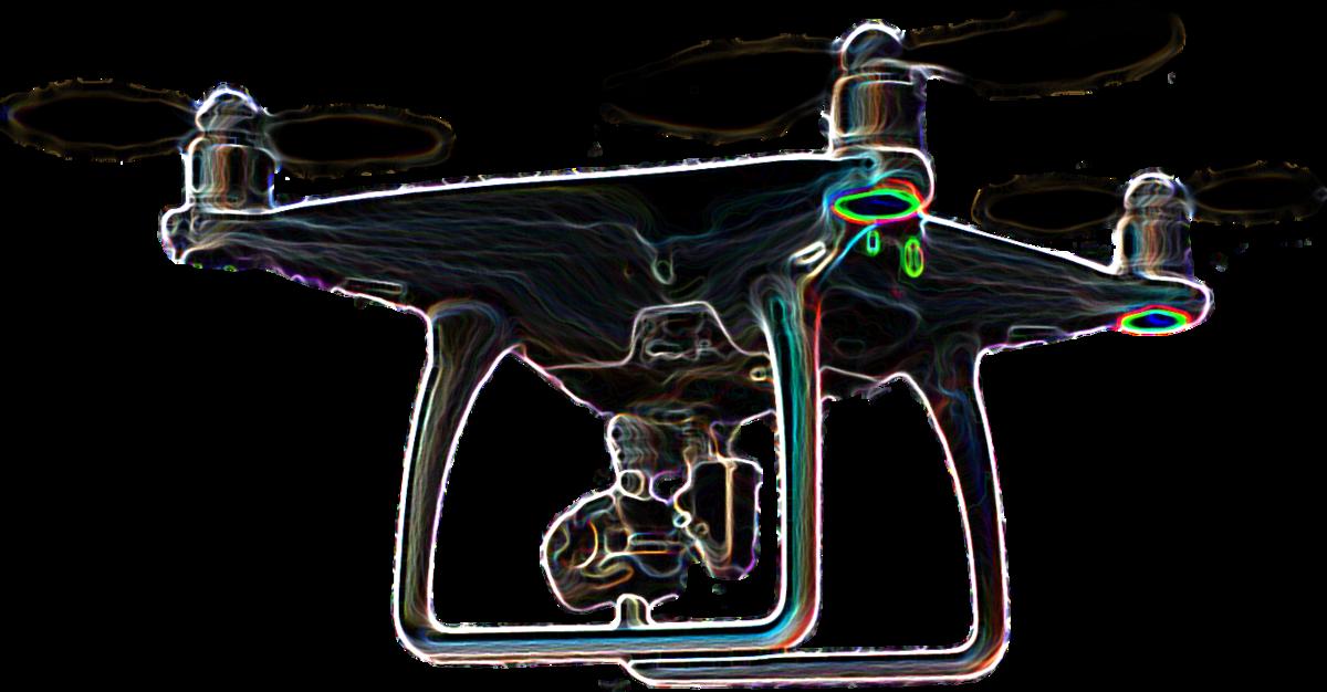 Leuchtende Mega-Drohne – DJI Phantom 4