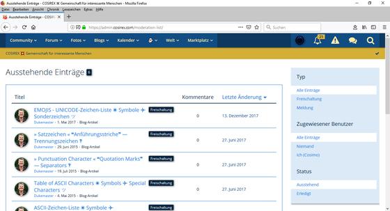 Woltlab Suite – Moderation – Inhaltsmeldungen – Einsehen, Bearbeiten, Reagieren-2