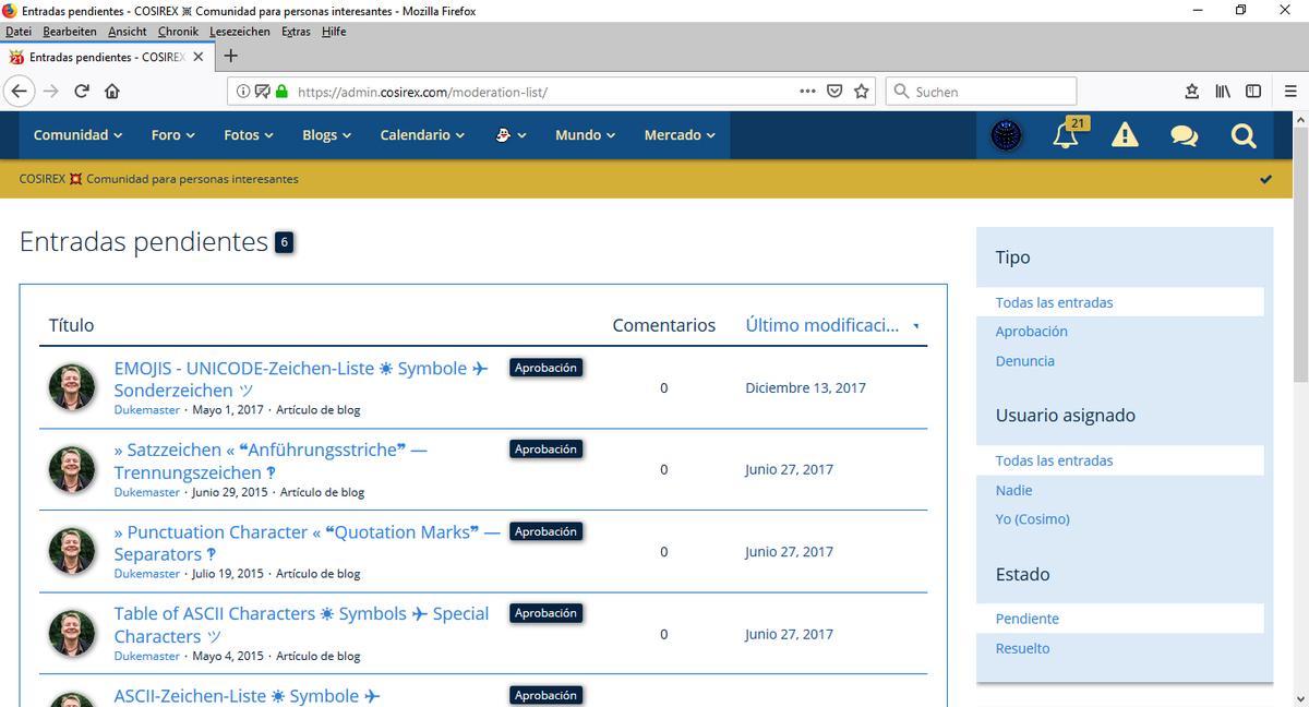 Woltlab Suite – Moderación – Mensajes de contenido + Denuncias – Ver, Editar, Reaccionar-2