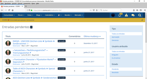 Woltlab Suite – Moderação – Mensagens de conteúdo + Denúncias – Ver, Editar, Reaccionar-2