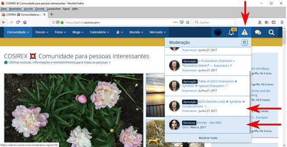Woltlab Suite – Moderação – Mensagens de conteúdo + Denúncias – Ver, Editar, Reaccionar-1