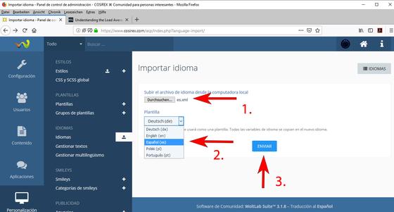 Actualizar archivos de idioma WoltLab – ¿Cómo importar nuevos archivos de idioma?