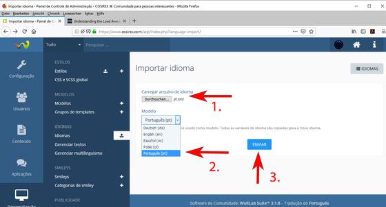 Atualizar arquivos de idiomas WoltLab – Como importar novos arquivos de idioma?